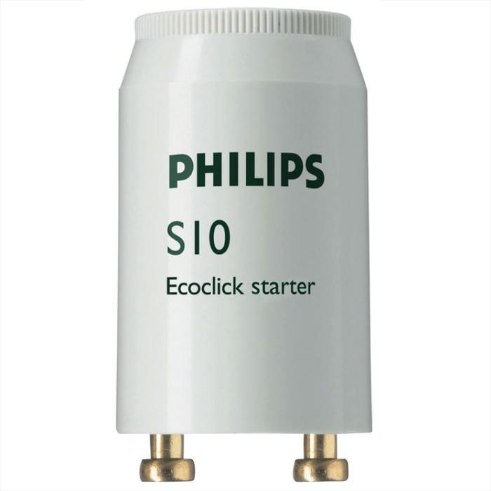 Стартеры для люминесцентных ламп PHILIPS S10, комплект 25 шт., 4-65 W, 220-240 V (одноламповая схема подключения) .