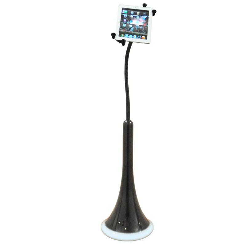 cle istatic tablet st nder schwarz mit usb anschluss und. Black Bedroom Furniture Sets. Home Design Ideas