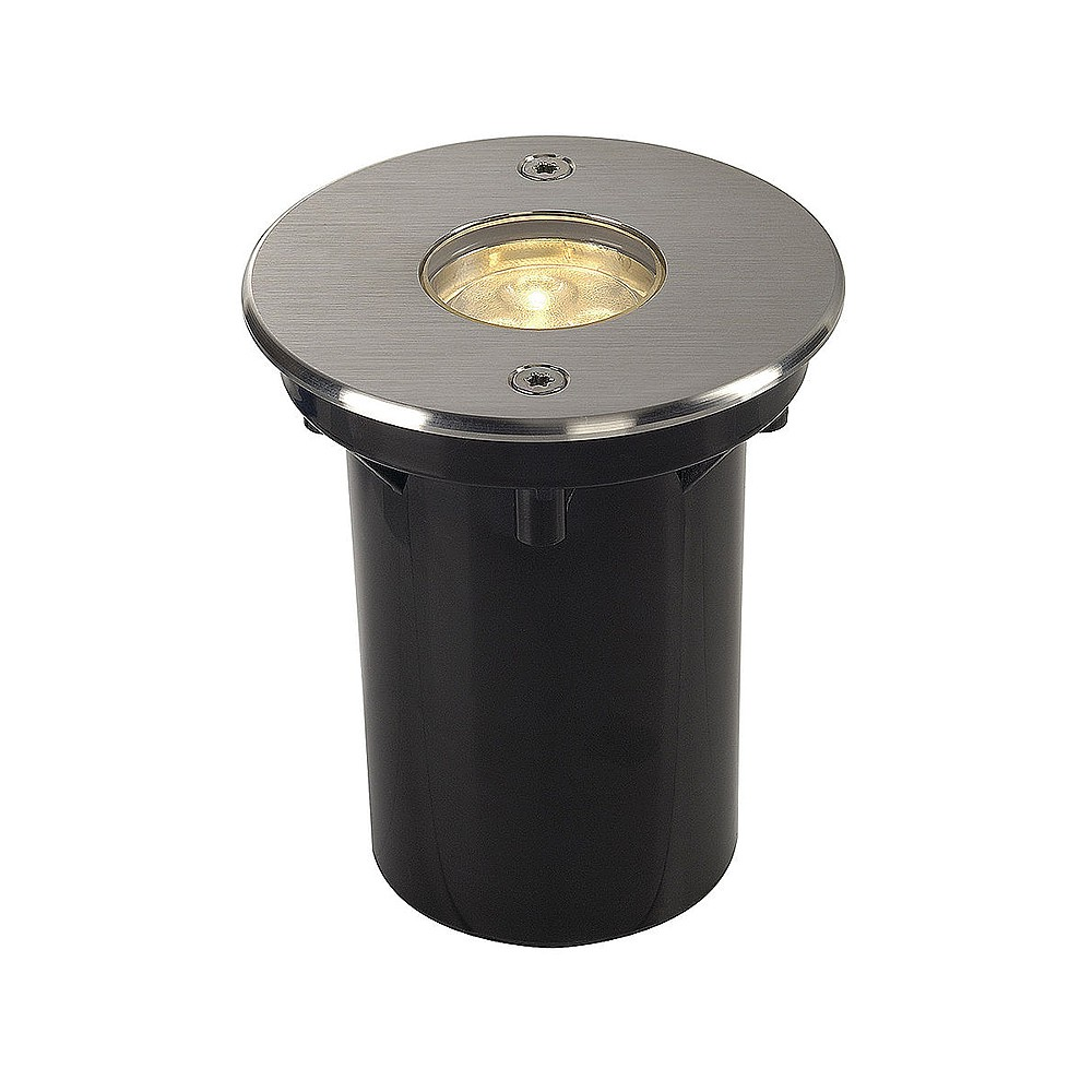 Slv dasar led lv pro bodeneinbau leuchte rund edelstahl for Led leuchte rund