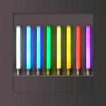 LIVING COLORS CLE CLASSIC LED RGB  Leuchtmittel E27 28cm mit Fernbedienung.