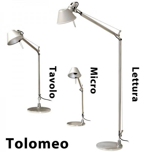 artemide tolomeo lettura inkl fuss alu eloxiert leuchten nach hersteller artemide leuchten. Black Bedroom Furniture Sets. Home Design Ideas