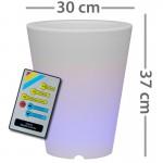 CLE Lichtobjekt LED Blumentopf 30cm RGB mit Fernbedienung