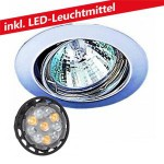 CLE LED 6W Downlight Einbauleuchte 12V MR16 3830 nickel
