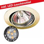 CLE LED 6W Downlight Einbauleuchte 12V MR16 3830 messing