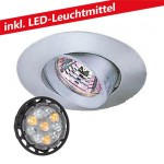 CLE LED 6W Einbauleuchte 12V MR16C Turno nickel