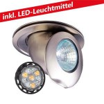 CLE LED 6W Einbauleuchte 12V MR16CH nickel