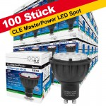 100x CLE Master Power LED 6W GU10 3000K 230V 25-40-55° 830 warmton
