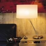 Lumina Liz Table Tischleuchte Mettalic grau 150W E27 ohne Schirm