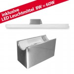 LED ALUTEC LIN Spiegelleuchte Linestra incl. LED Linienlampe 1x 8W / 60W  chrom