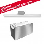 LED ALUTEC LIN Spiegelleuchte Linestra incl. LED Linienlampe 1x 8W / 60W  edelstahl