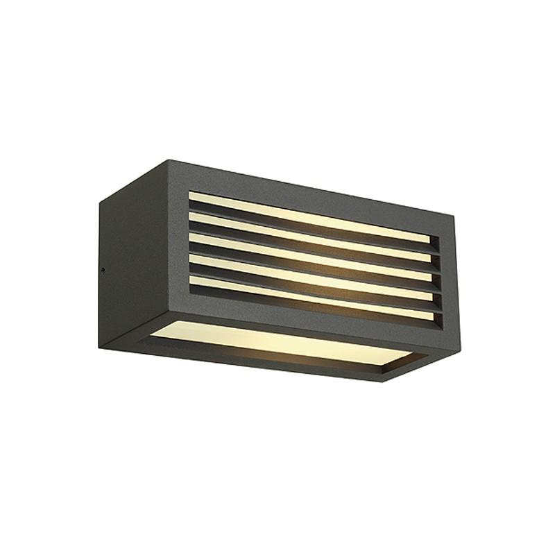 slv box l e27 aussen wandleuchte eckig anthrazit e27. Black Bedroom Furniture Sets. Home Design Ideas