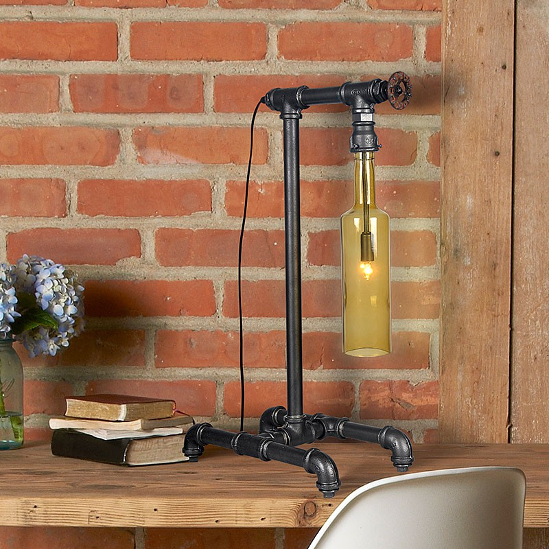 gaga lamp steam punk design retro tischleuchte wasserflasche waterpower no 1 design klassiker. Black Bedroom Furniture Sets. Home Design Ideas