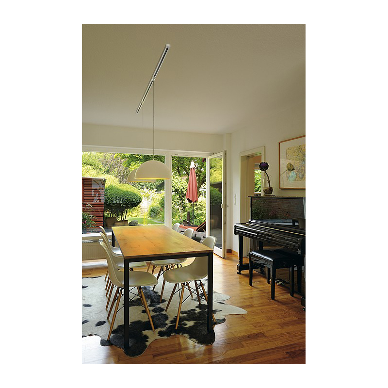 slv forchini m pendelleuchte 40cm rund weiss gold e27. Black Bedroom Furniture Sets. Home Design Ideas