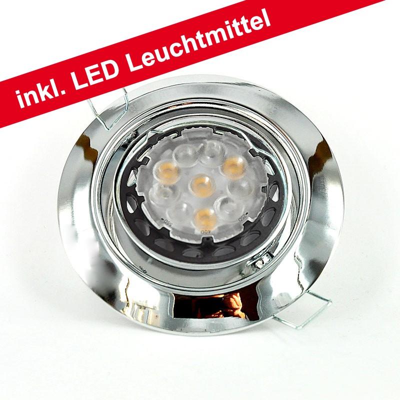 cle led downlight einbauleuchte 3830 6w chrom hochvolt cardanlight europe standard ein. Black Bedroom Furniture Sets. Home Design Ideas